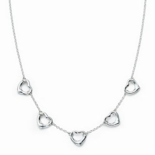 Колье Five Open Heart Necklace