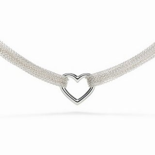 Колье Ten Row Heart Necklace